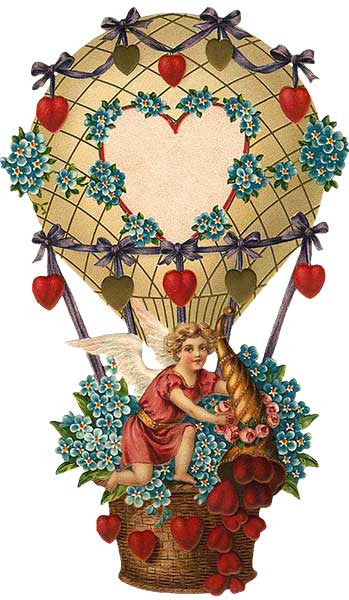 Free Graphic Friday - Valentine Hot Air Balloon