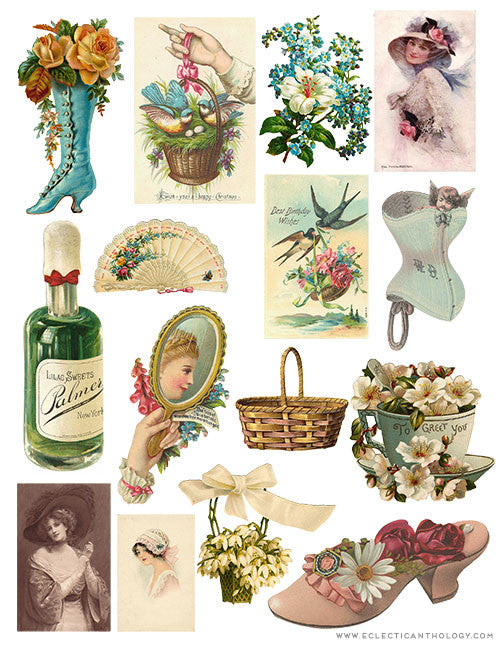 Free Vintage Graphics Collage Sheet - No. 3
