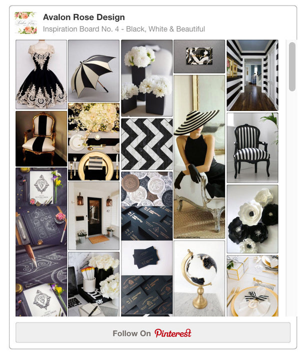 Inspiration Board No. 4 | Black, White & Beautiful