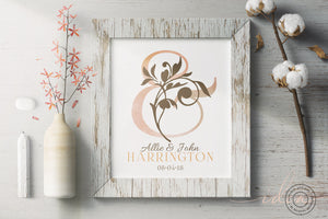 IDEA #005 : FREE Wedding Ampersand Name Print