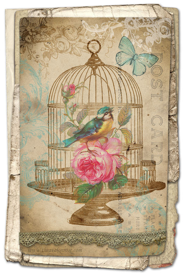FREE Printable Birdcage Art Card