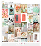 Inspiration Board No. 1 | Feminine Coral & Mint