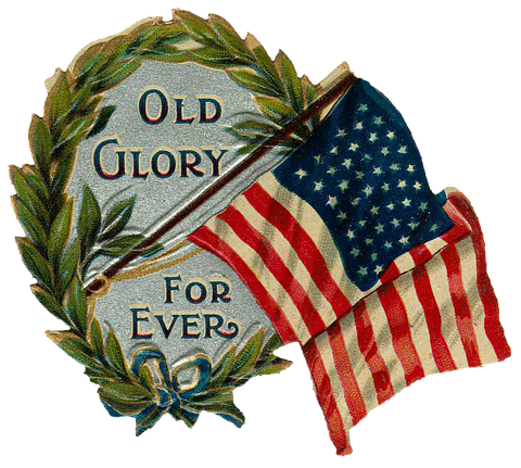 Free Vintage US Flag Graphic