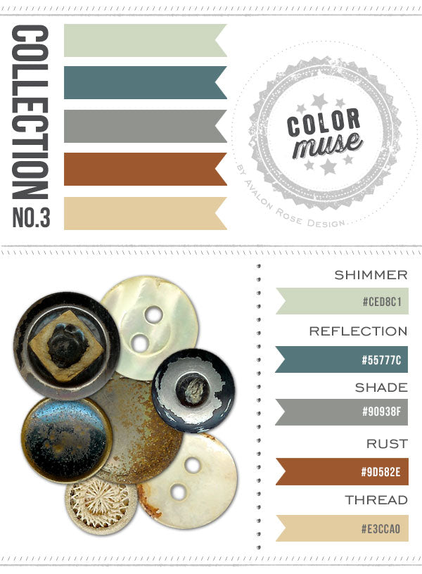 Color Muse Color Scheme Palette Green Brown Tan Blue