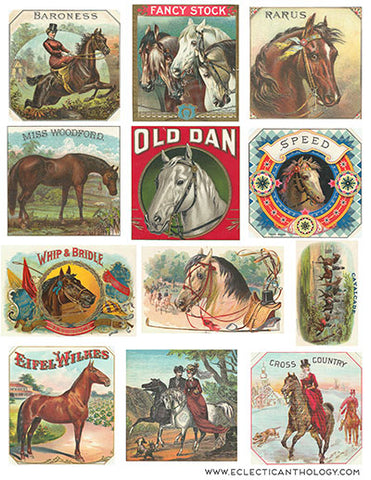 Free Vintage Horse Cigar Label Graphics