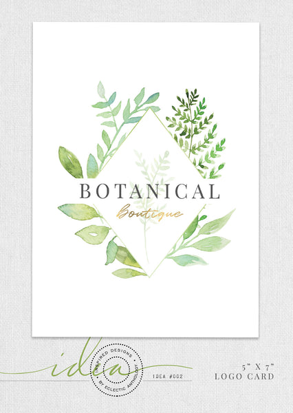 Free Botanical Watercolor Logo