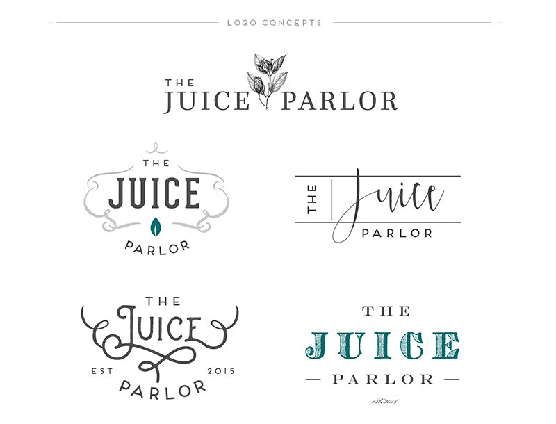 Juice Parlor Custom Logo