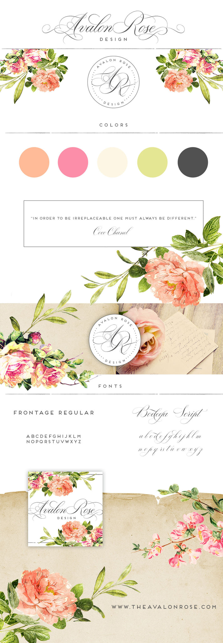 Feminine Branding - Avalon Rose Design