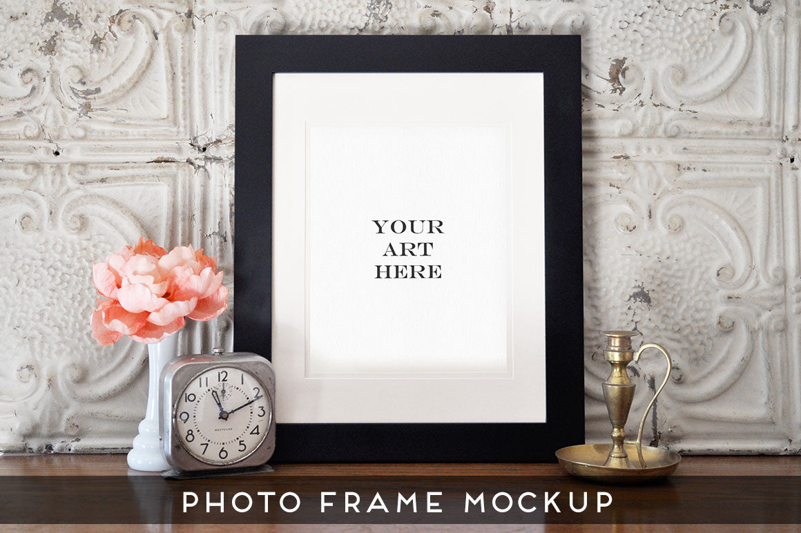 Realistic Photo Frame Art Mockup #3