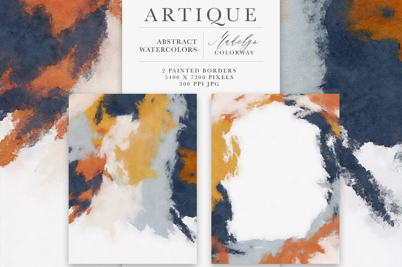 Artique Abstract Watercolor Background Texture Graphics
