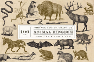 Vintage Animal Vector Graphics