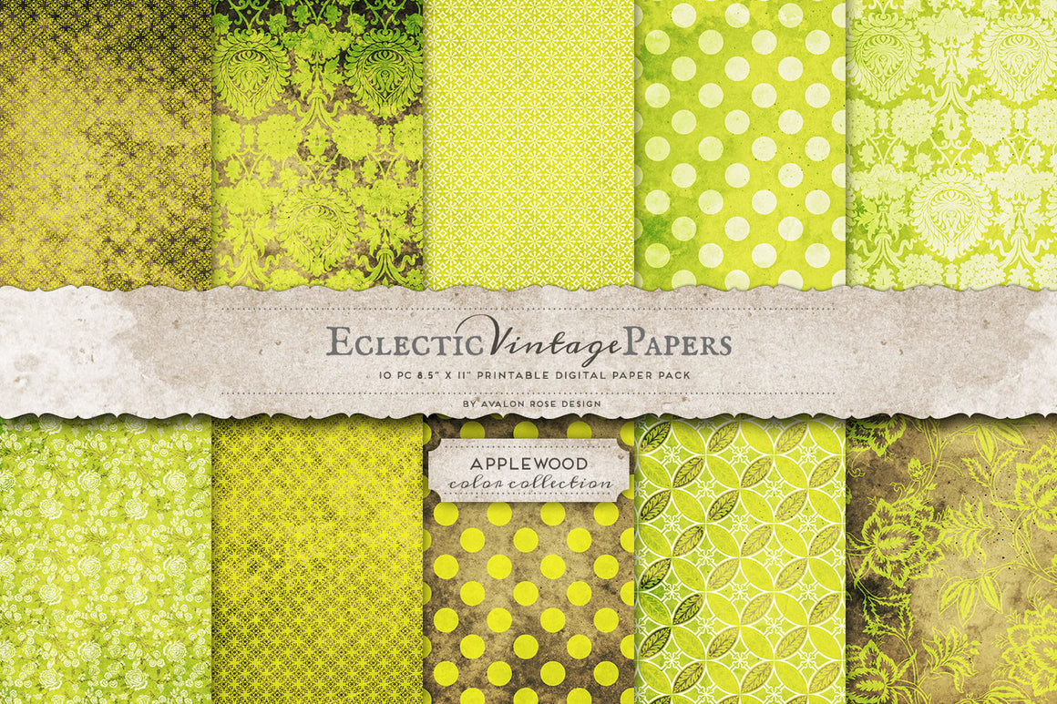 Vintage Printable Papers - Applewood