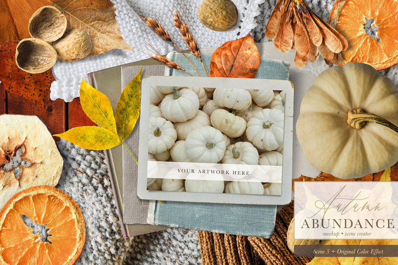 Autumn Abundance Mockup and Scene Creator Graphics
