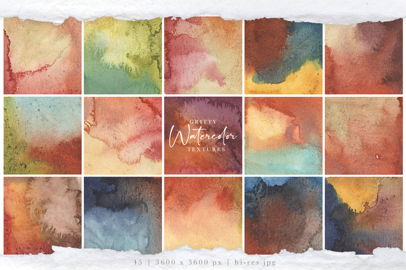 Gritty Watercolor Texture Graphics | Vol 1 | Autumn Woods