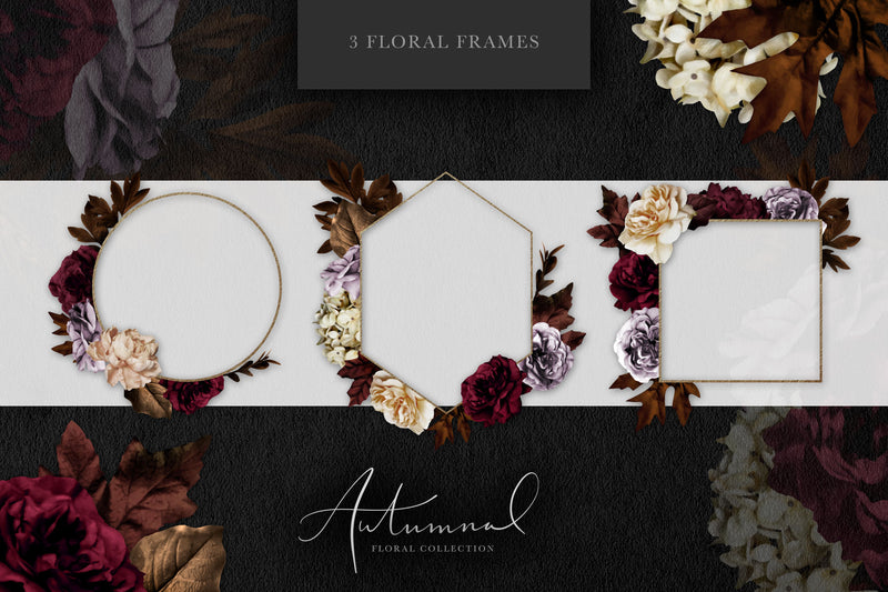 Autumnal Floral Graphics Collection