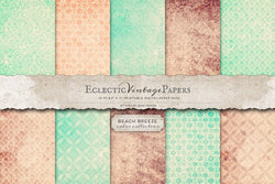 Vintage Printable Papers - Beach Breeze