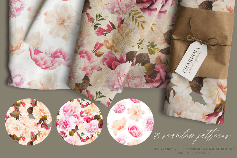 Charisma Watercolor Flower Collection