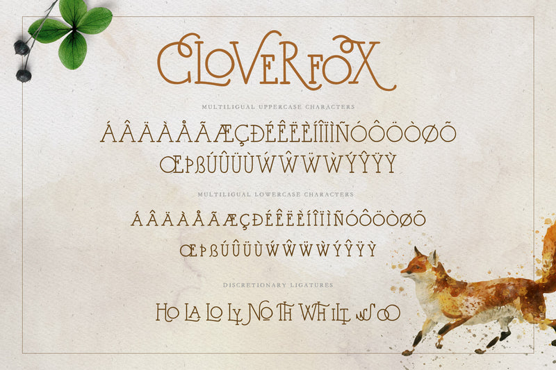 CloverFox Display Font