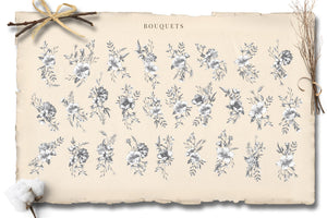 Botanical Curiosities Monograms and Florals