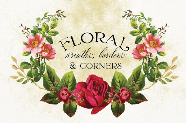 Floral Wreaths, Borders & Corners