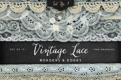 Vintage Lace Borders & Edges No. 1