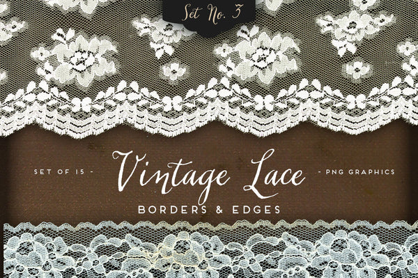 Vintage Lace Borders & Edges No. 3