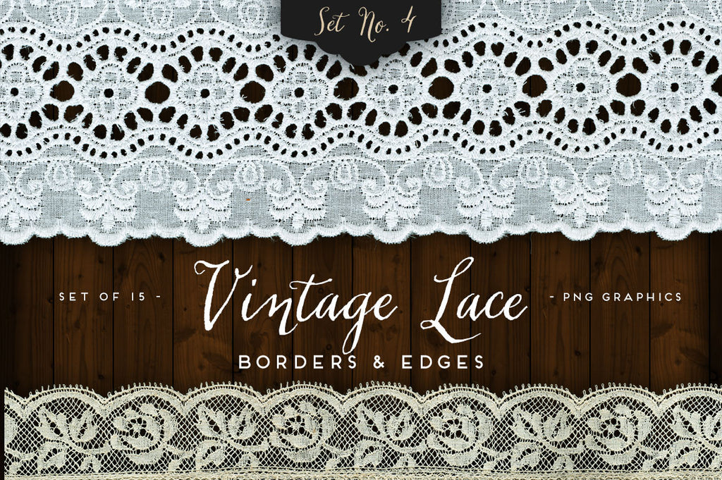 Vintage Lace Borders & Edges No. 4