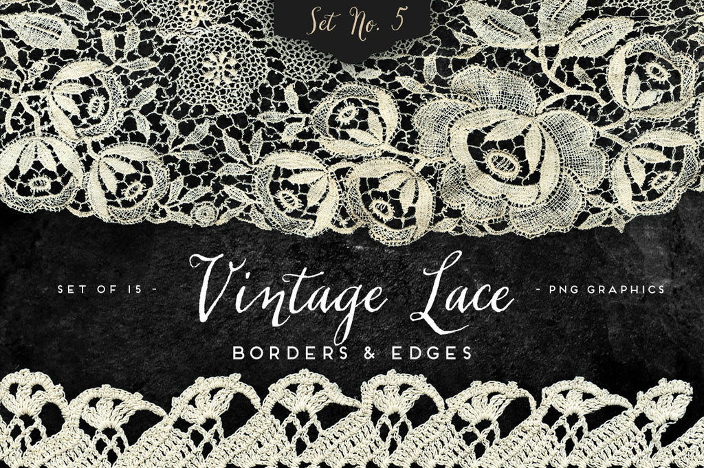 Vintage Lace Borders & Edges No. 5