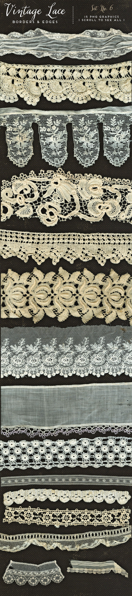 Vintage Lace Borders & Edges No. 6