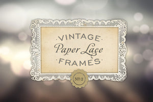 Antique Paper Lace Frames Graphics No. 2