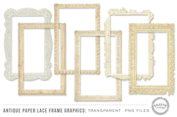Antique Paper Lace Frames Graphics