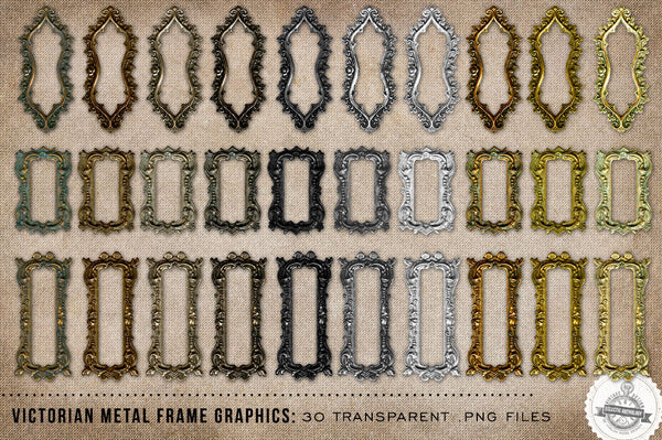 Victorian Metal Frames Graphics No. 2