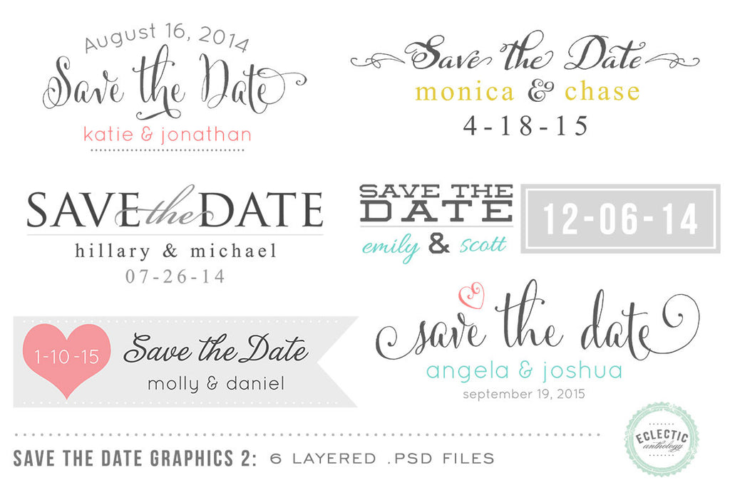 Save the Date Wedding Overlays