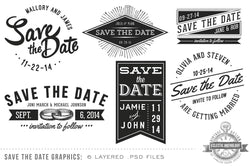 Vintage Save the Date Overlays #2