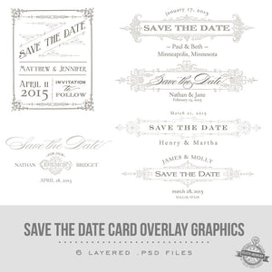 Vintage Save the Date Graphics