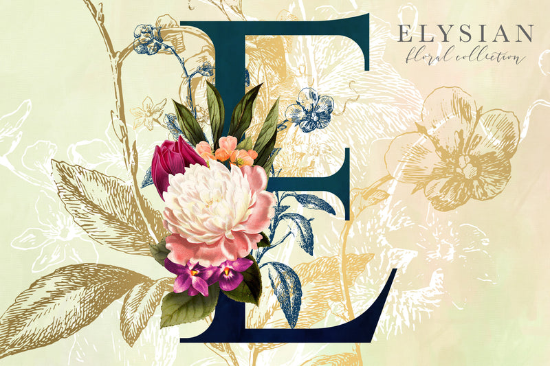 Elysian Floral Graphics Collection