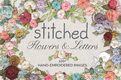 Stitched Flower & Letter Graphics