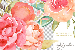 English Garden Watercolor and Glitter Collection