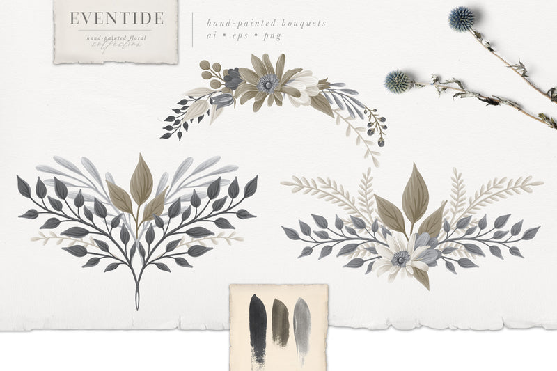 Eventide Floral Monograms, Logos, & Patterns