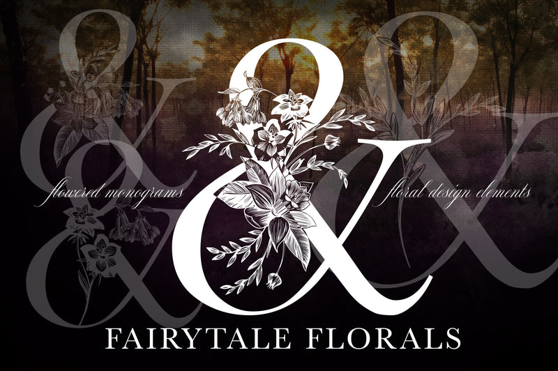 Fairytale Floral Monogram Set