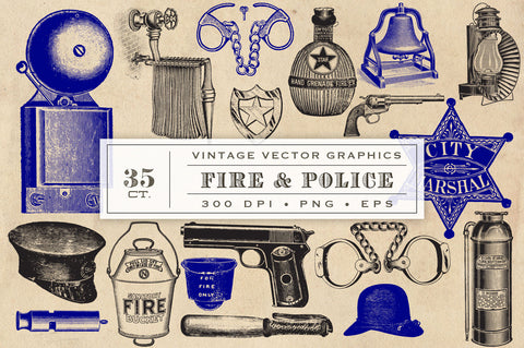 Fire and Police Vector Graphics