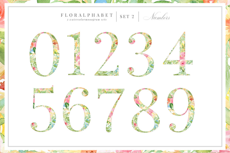 Floralphabet Monograms Vol 1