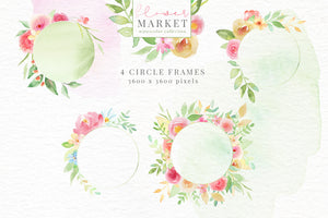 Flower Market Watercolor Collection
