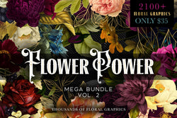 Flower Power Graphics Mega Bundle Vol. 2