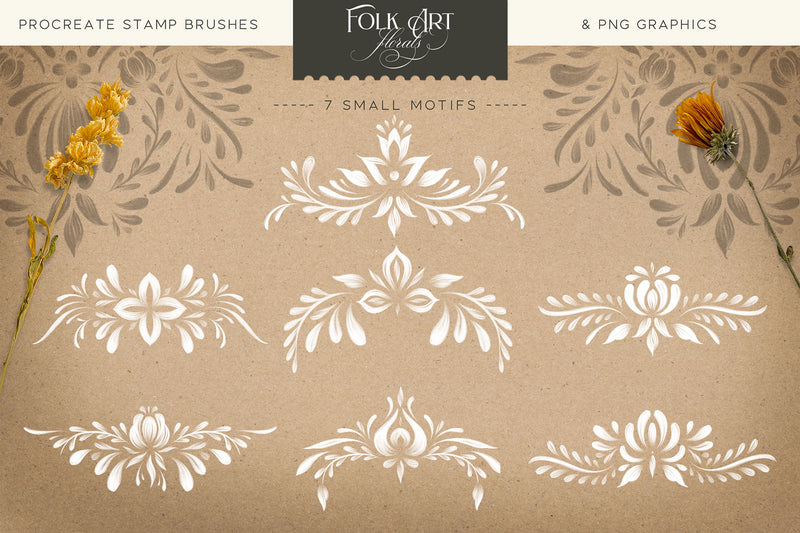 Folk Art Floral Procreate Brush Kit