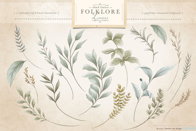 Folklore Floral Clip Art & Patterns