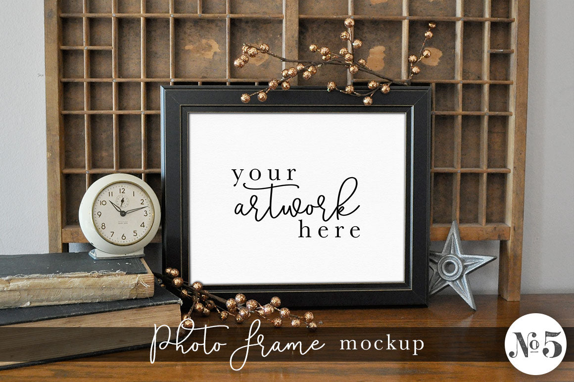 Vintage Photo Frame Mockup No. 5