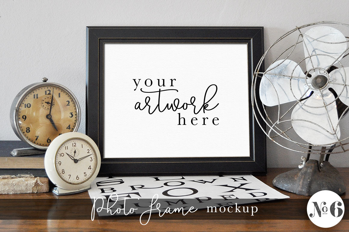 Vintage Photo Frame Mockup No. 6