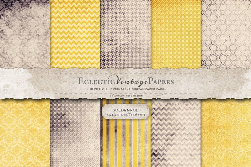 Vintage Printable Papers - Goldenrod