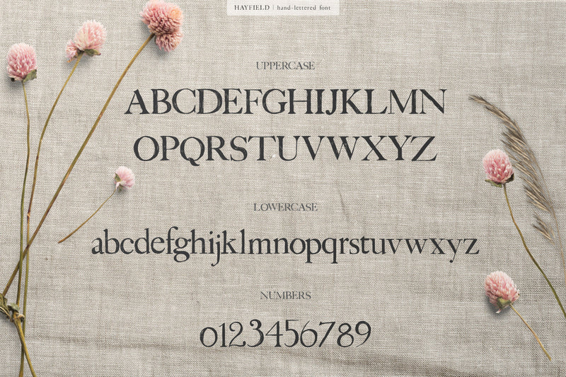 Hayfield Hand Lettered Font